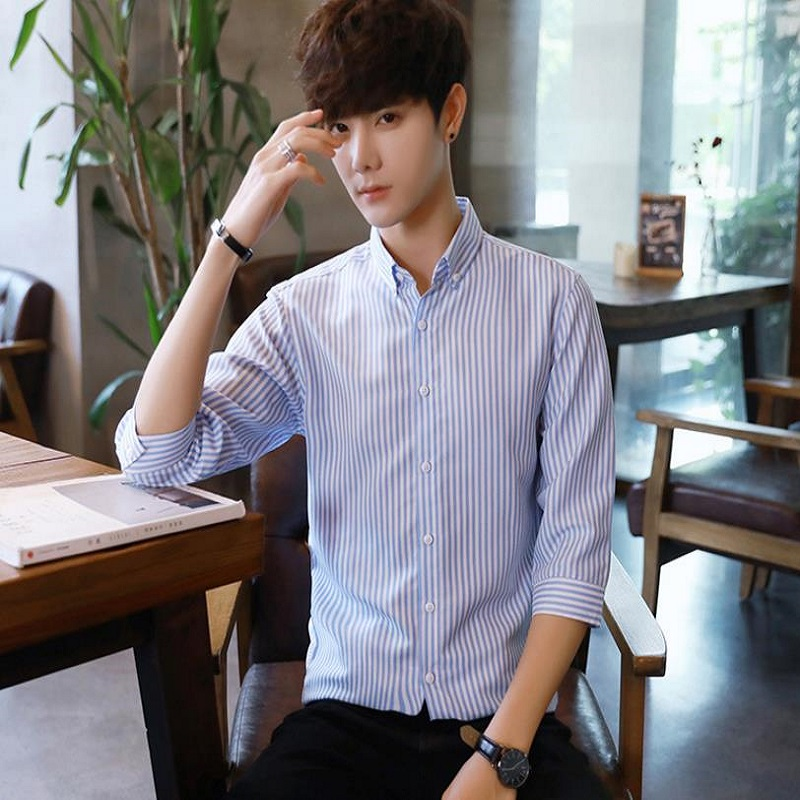2018 ECTIC NEW contracted fashion trend trend of casual and handsome men's shirts.bei 236598