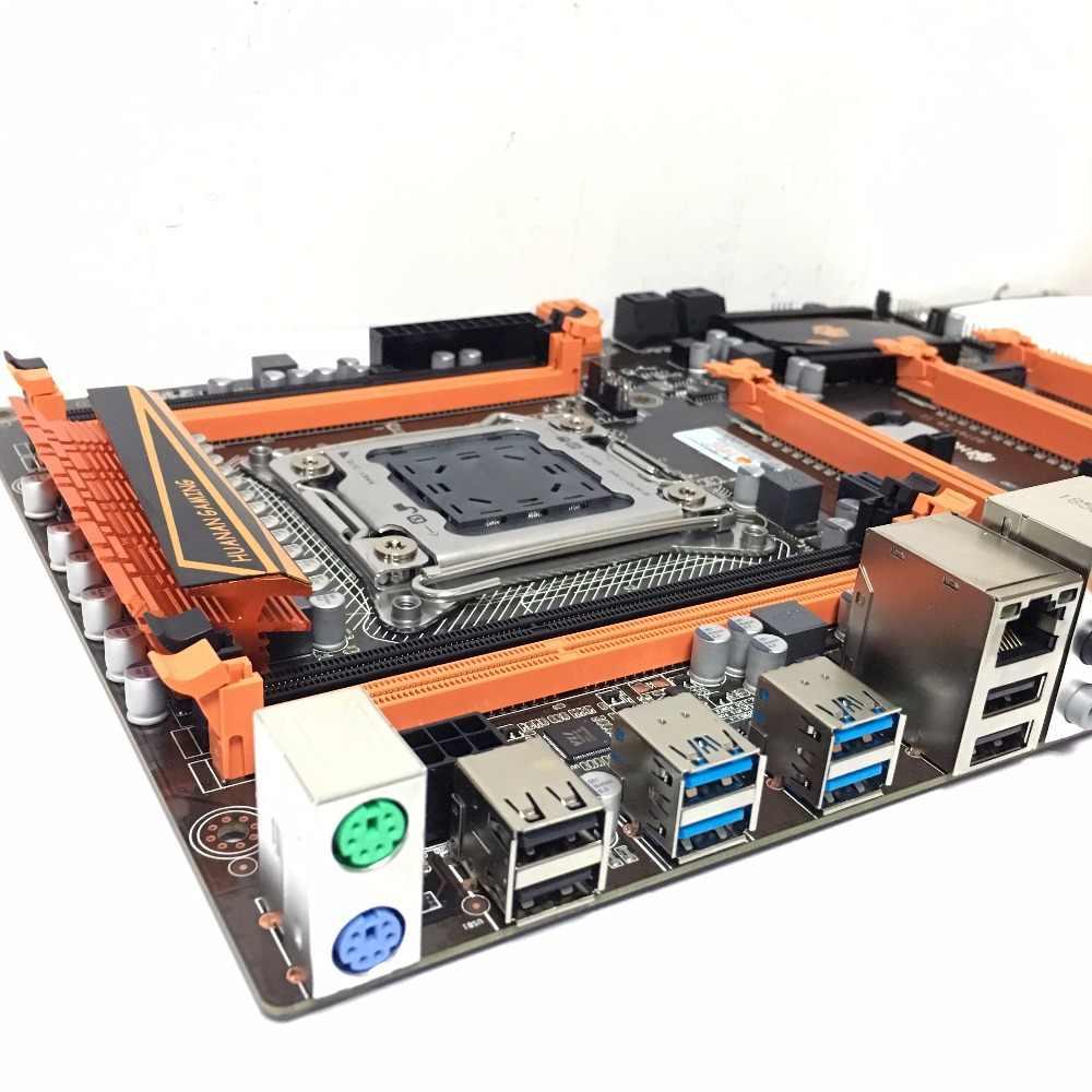 HUANANZHI Deluxe X79 2011 DDR3 الكمبيوتر المكتبي اللوحات الأم الكمبيوتر اللوحة الأم 3 * PCI-E x16 7.1 الصوت المسار تبادل لاطلاق النار