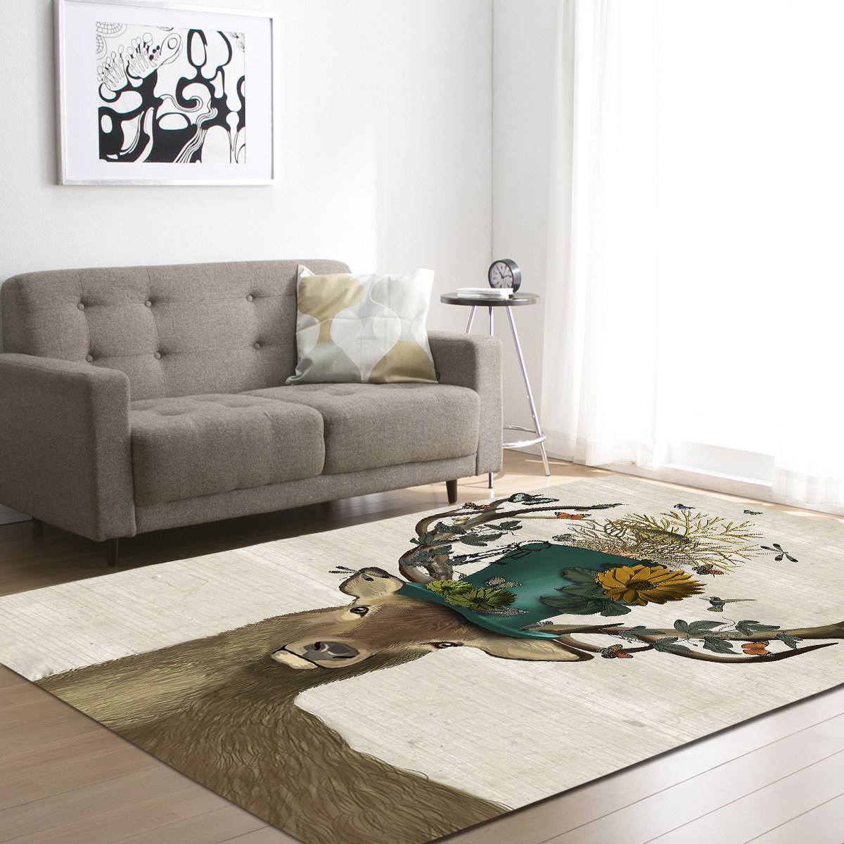 Zeegle Creative Skull Printed Large Size Carpet For Living Room Home ...
