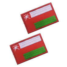 5pcs/lot 3D embroidery patches magic stickers Loops and hook Oman flag armband badges Cloth Badges