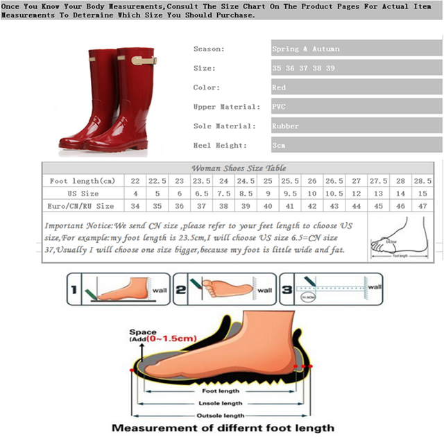 Women's Fashion Knee High Rain Boots Fresh Red Cool Motorcycle Rubber Rain Boots For Woman Women's Rain Water Shoes