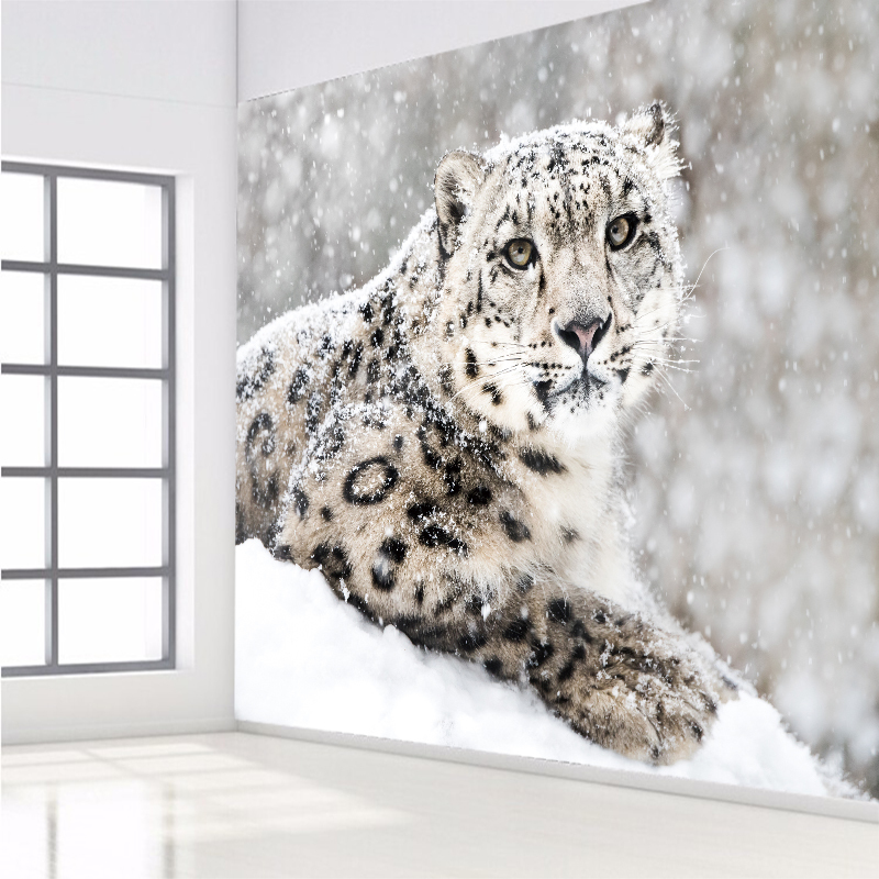 Stereoscopic Animal Leopard Custom Photo Wall Paper Wall Mural Backdrop Wallpaper Living Room Bedroom Home Decor