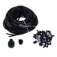 25m DIY Micro Drip Sprinkler Irrigation System Plant Automatic Watering Kit Irrigation System Garden Hose Kits