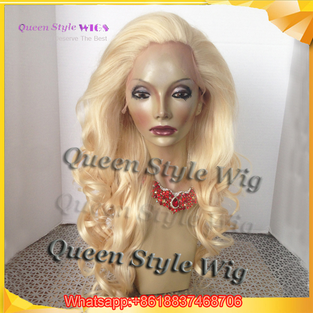 Customer Shared Actual Photo Showing QueenStyle White Lady Natural Light Blonde Color