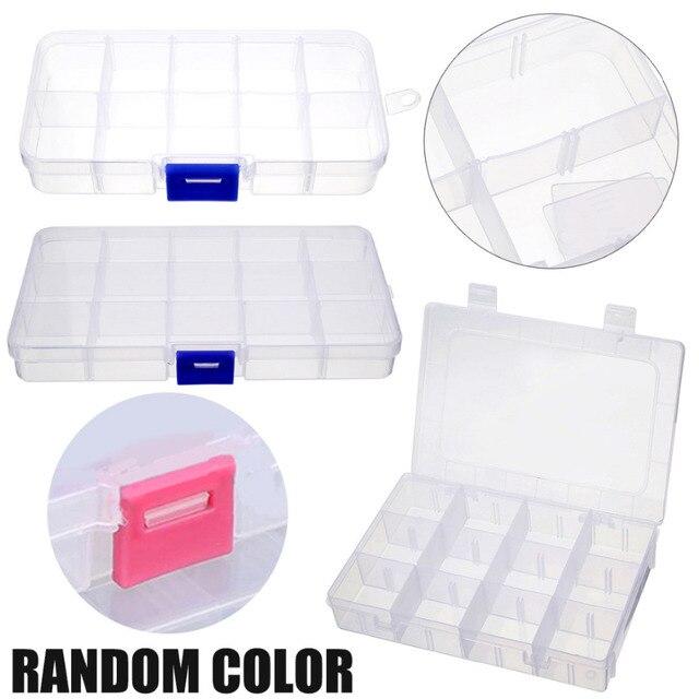 Mayitr 101524 Slots Compartment Organizer Plastic Storage Box Case