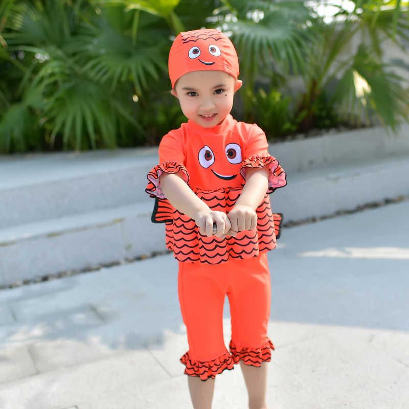 Детский купальный костюм-поплавок, цельный купальный костюм, Съемный Детский купальник для девочек, защитный купальник, купальный костюм Купание, костюм