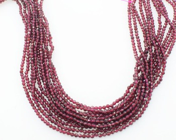 414392bf9e89 Perlas de granate rojo 3mm facetadas Bohemia ronda 14 pulgadas DIY perlas  de la naturaleza FPPJ venta al por mayor