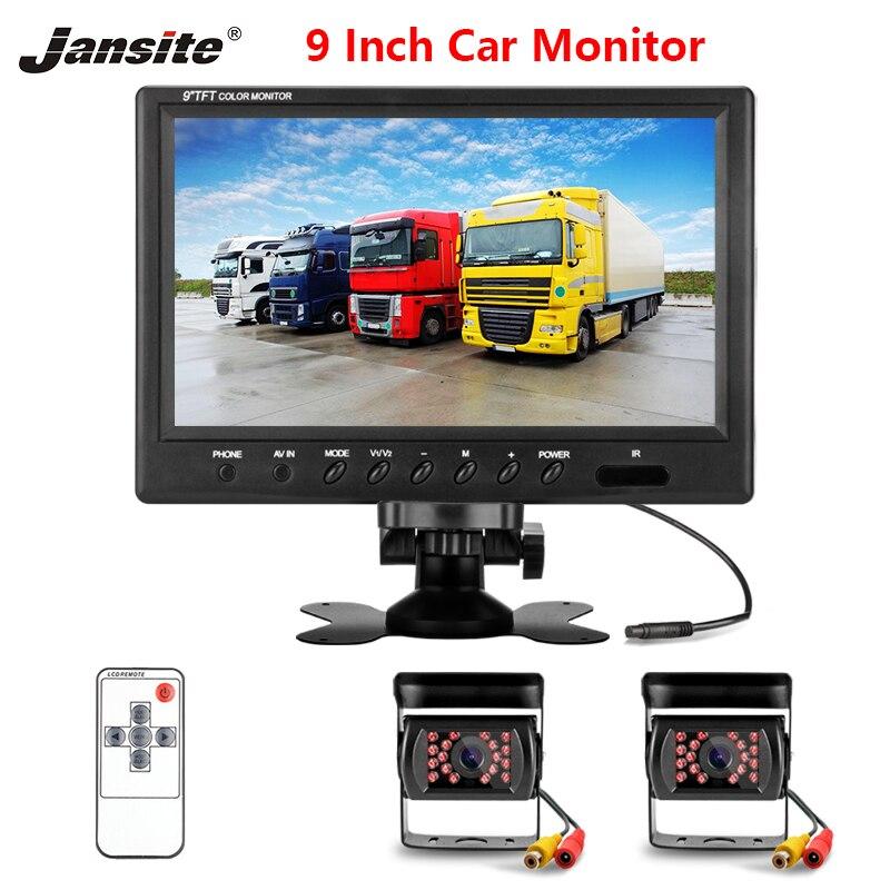 Jansite 9 pollici Wired Auto monitor TFT Car Rear View Monitor di Sistema di Parcheggio di Rearview per il Backup della Macchina Fotografica di Inverso per Farm macchine