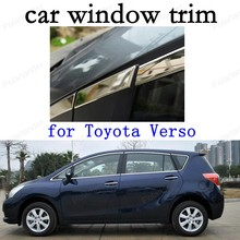 car stying Car Exterior Accessories Decoration Strips  Stainless Steel Window Trim for Toyota Verso