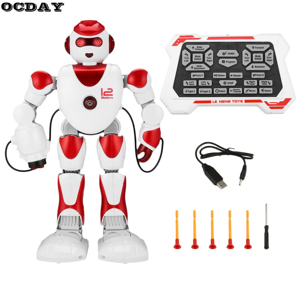 Hot! OCDAY K2 Intelligent Alpha RC Robot Smart Programming Humanoid RC Robot Toys Demo Singing Dancing Robot Kid Educational Toy the best educational toy versatile albott intelligent robot toys dancing singing story multifunction rc fighting toy for gift
