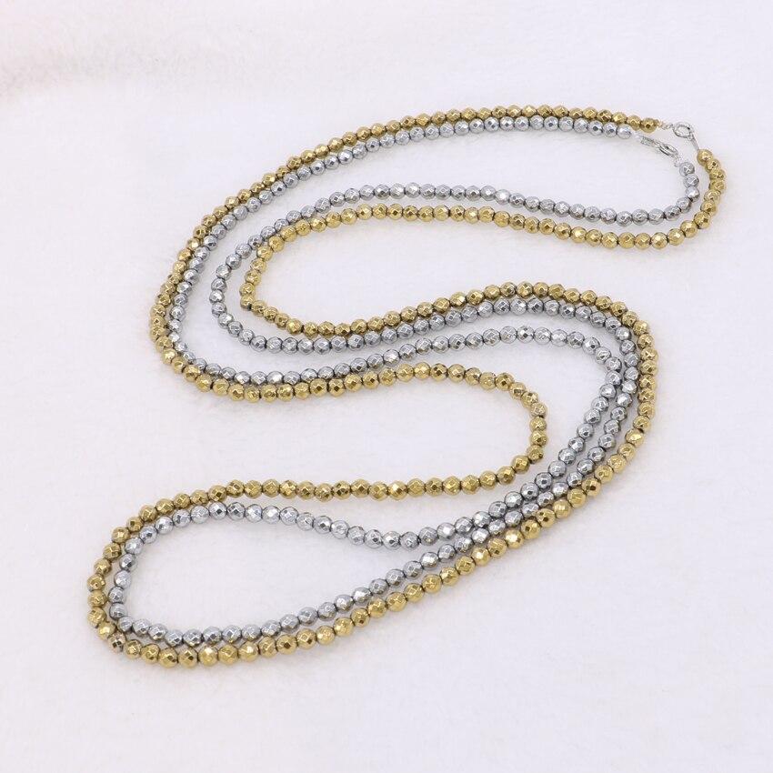 """Horké! 32 """"náhrdelníky z přírodního hematitu Hematitový řetízek 2/3/4 mm kuličky galvanicky míchané barevné barvené hematitové korálkové řetězy 342"""