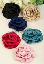 100 шт Большой Атлас Проката Ткань Розетка цветок розы в смешанных