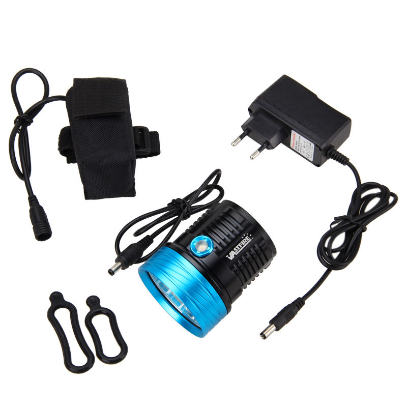 ФОТО Rechargeable 20000LM 9X XML T6 LED Front Bicycle Light Bike Headlamp Torch+ Headband+Battery Set