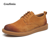 Cresfimix men fashion comfortable spring & autumn high quality suede shoes male casual anti skid rubber bottom shoes b2942