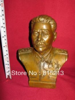 "wang 00027 Medium USSR Joseph.Stalin Bronze Statue Sculpture 7""H"