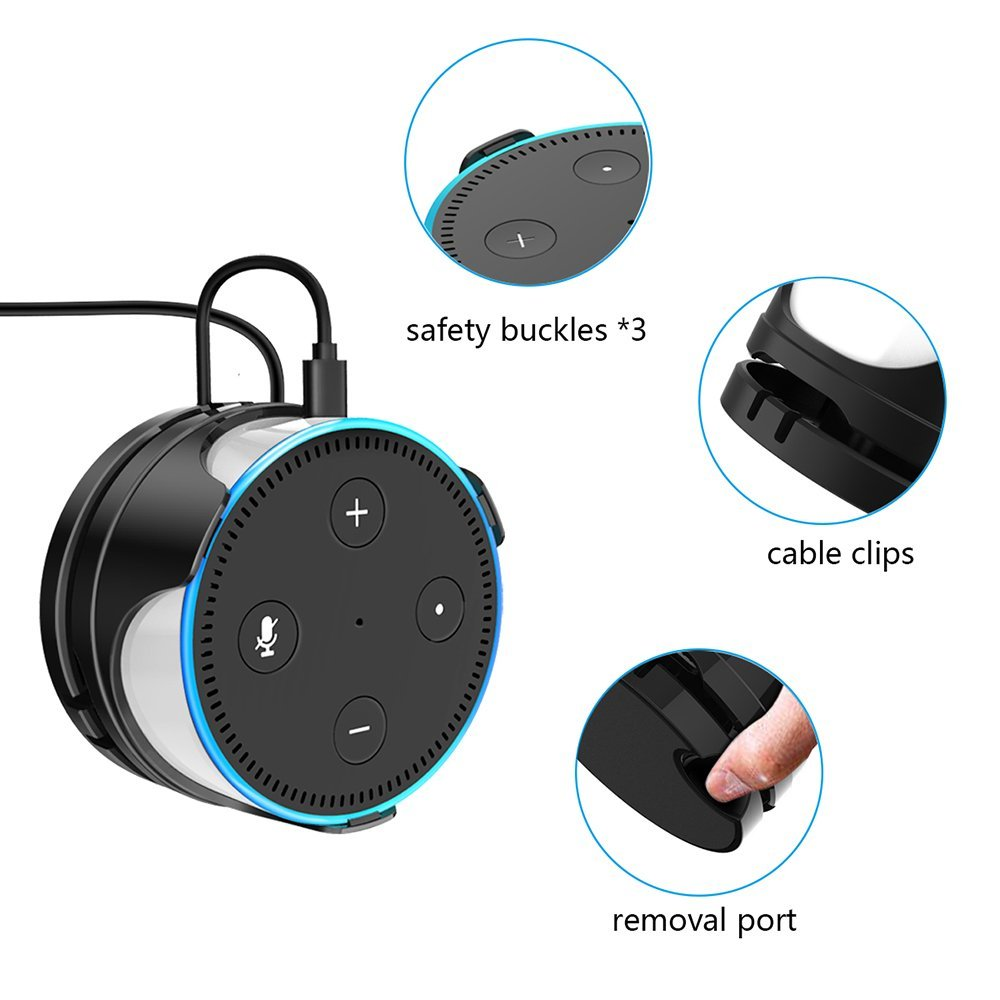 Flexible Wall Mount Holder for Amazon Echo Dot 2nd