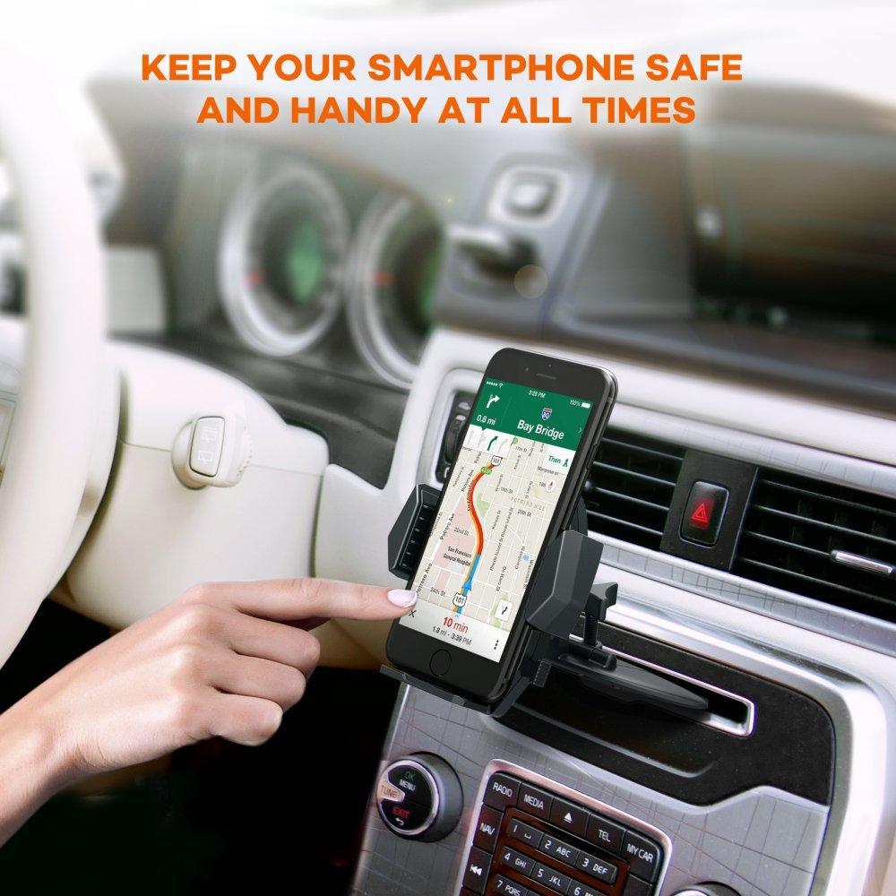Car Phone Holder CD Slot Phone Mount Universal Cell Phone