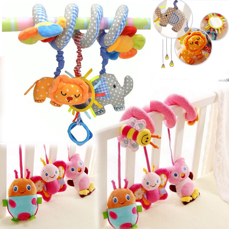 Cute Lovely Baby Bed Around/baby stroller Hanging Dolls Bell Rattle Mobile Musical Plush Infant Toys gifts Xmas Toy for kids shiloh crib mobile infant baby play toys animal bed bell toy mobile cute lovely electric baby music educational toys 60 songs