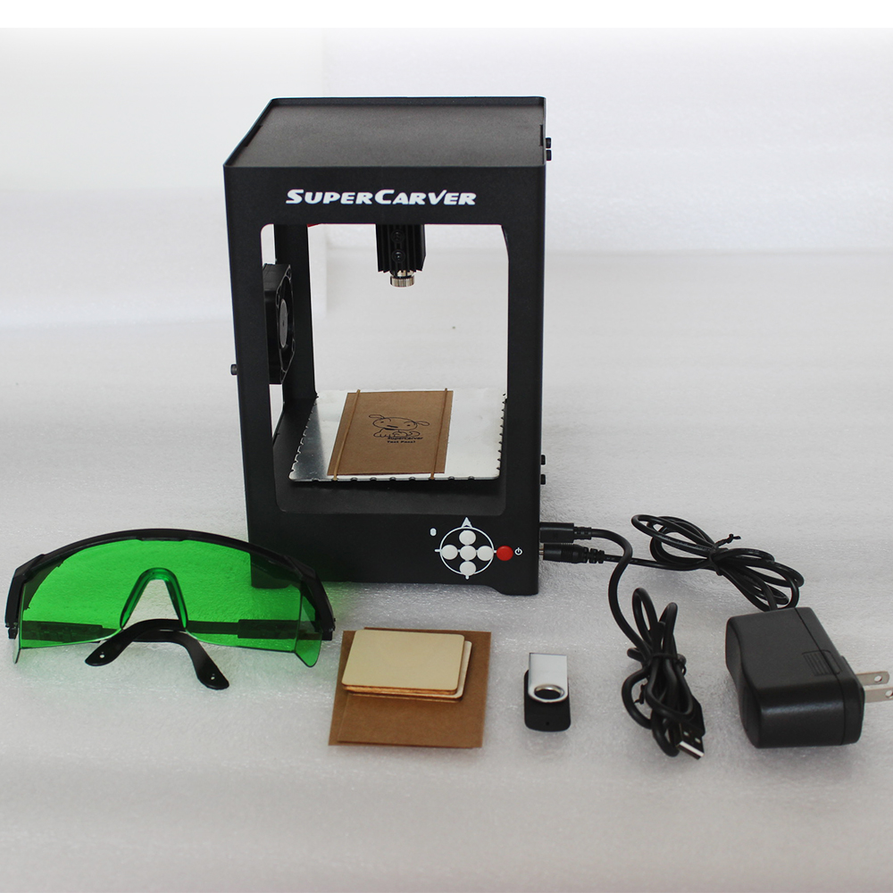 Free DHL Shipping 1000mW Mini cnc router laser Engraving Machine laser cutter DIY Print Engraver Off-line Protective Glasses eur free tax cnc 6040z frame of engraving and milling machine for diy cnc router