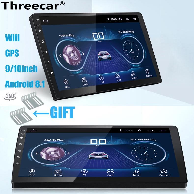 9/10 pouces Android 8.1 universel autoradio 2din android autoradio lecteur DVD GPS NAVIGATION WIFI Bluetooth MP5 lecteur caméra arrière