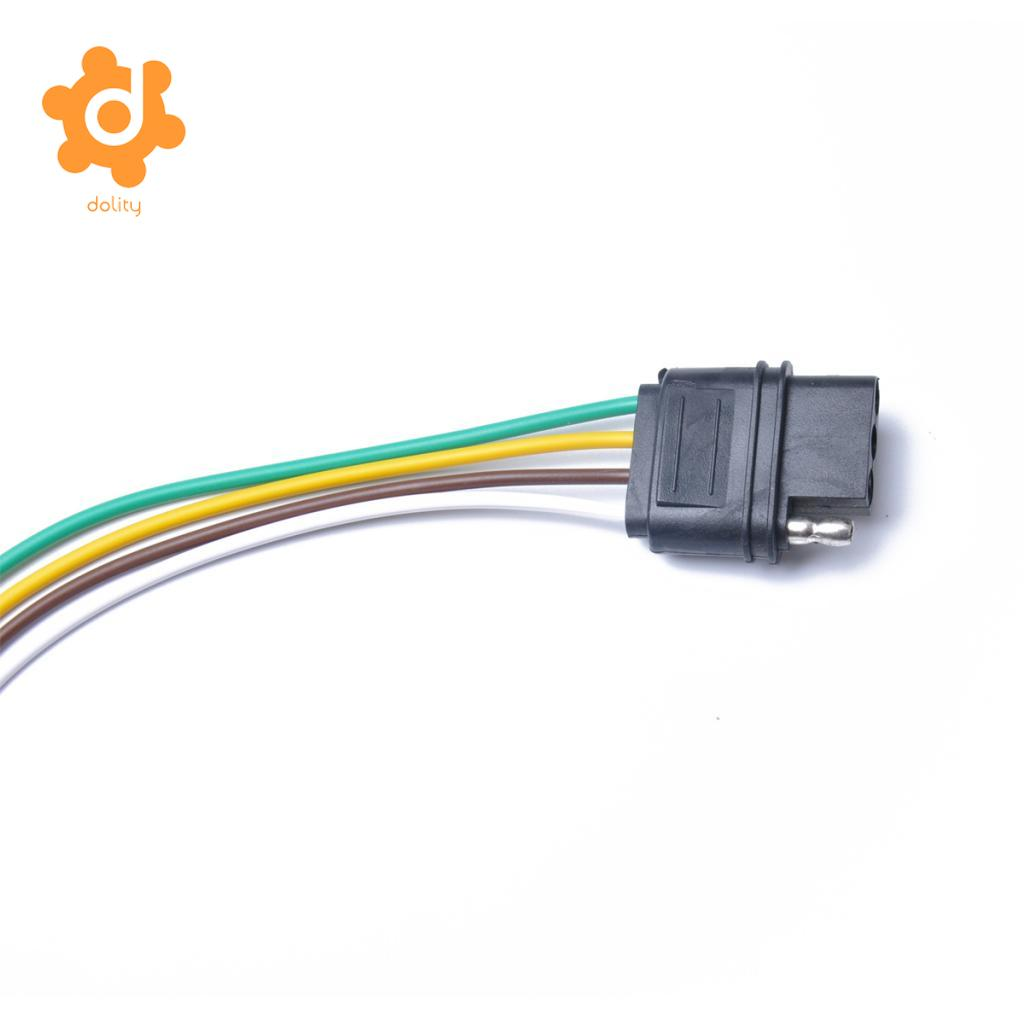 dolity 4 Pin Plug 18 AWG Trailer Light Flat 220mm Wiring Harness Connector US  Plug-in Cables, Adapters & Sockets from Automobiles & Motorcycles on ...