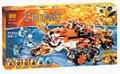 Bela 10357 Chimaed Building Blocks Define Deus tigre Tribo Super carro Crianças Tijolos Brinquedos Compatível com Legoe 70224