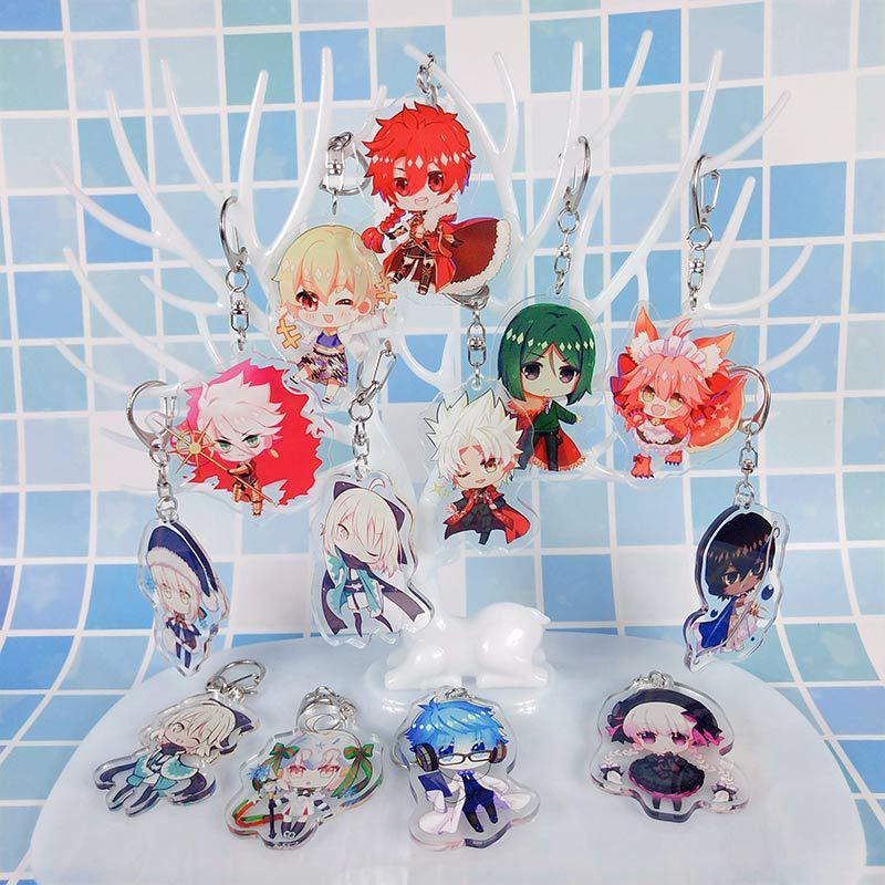1pcs Anime Keychain Fate/Grand Order Game Fate Grand FGO Keychain Saber Astolfo  Key Ring  Llaveros Para Mujer