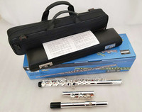 Original Box Flute YFL 212DR / 211 Musical Instrument Silver Plated Flute 16 Closed C Tune and E Key Flute Music Professional
