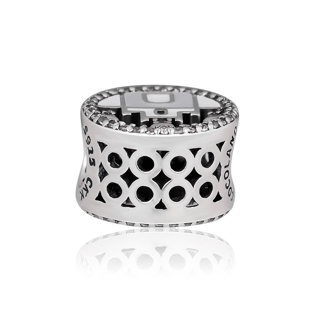 CKK 100 Genuine 925 Sterling Silver Princess Castle Beads Suitable For Original Pandora Bracelet DIY Jewelry Accessories in Beads from Jewelry Accessories