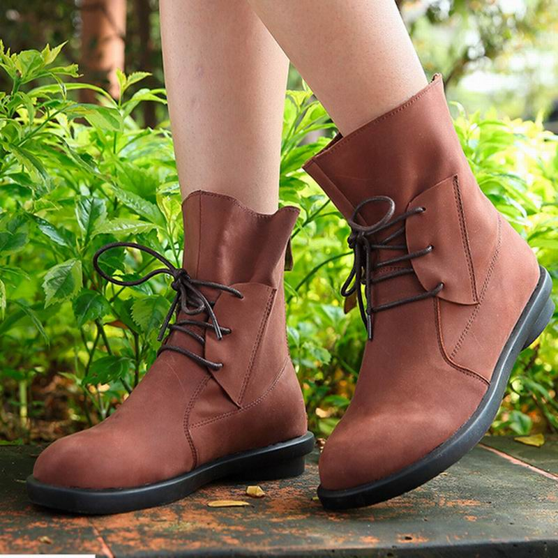 ФОТО Women boots Botas femininas 2017 new arrival women cowhide leather fashion platform genuine leather ankle boots for women shoes