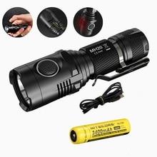 Nitecore MH20 MH20W Portable Flashlight with Nitecore Nl189 18650 3400mah battery XM-L2 1000 Lumens USB Charging Camping Light