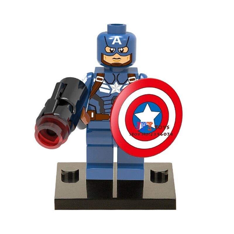 50pcs superhero Captain America movie building blocks bricks friends for boy kids children toys brinquedos menina