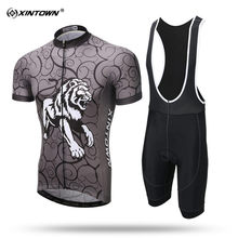 XINTOWN Tiger Short Sleeve Cycling Jersey Set Suitable MTB Bike Clothing Summer Bicycle Jerseys Men Maillot Ropa Ciclismo