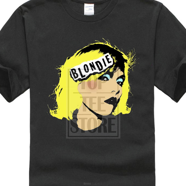 US $8 79 12% OFF Blondie Pop Art T Shirt Eat To The Beat Parallel Lines  Best Of Blond Printed T Shirt Cool Tops Short Sleeve Hipster Tees-in  T-Shirts