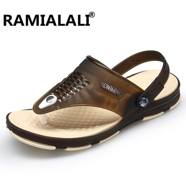 e7db6c03f6f4 Men Summer Sandals Male Slippers For Men 2018 Rome Style Casual Flats Beach  Shoes Men Double Eva Zapatos Hombre Sandalias