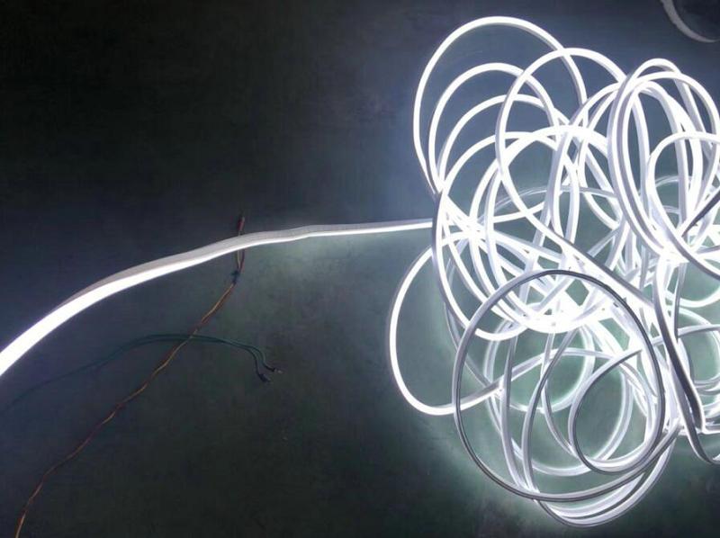 DC12V светодиодный неоновая веревка свет SMD 2835 120 светодиодный s/m Водонепроницаемый Гибкая мягкая полоса Бар Потолочные светильники 2,5 см можно резать 10 м - 5