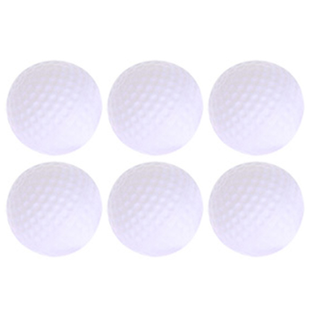 6PCS Plastic Hollow Out Round White Golf Practice Balls Golf Club Training Equipment Outdoor Sports Accessories 2017 Hot Selling
