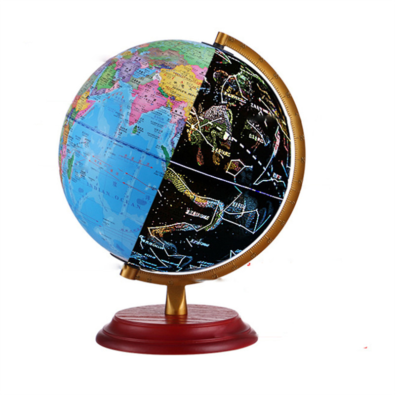 LED Constellation Tellurion World Globe Light Study Room Office World Map Table Desk Lamp Creative Gift for Child Student Decor diy scratch globe 3d stereo assembly globe world map travel kid child toy gift