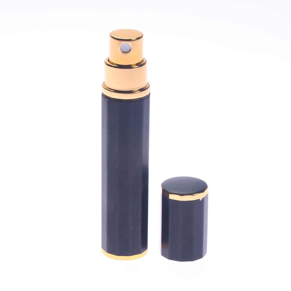 Mini Portable 8ML polygone en aluminium rechargeable parfum bouteille vaporisateur vide cosmétique conteneur voyage femmes hommes parfum outils