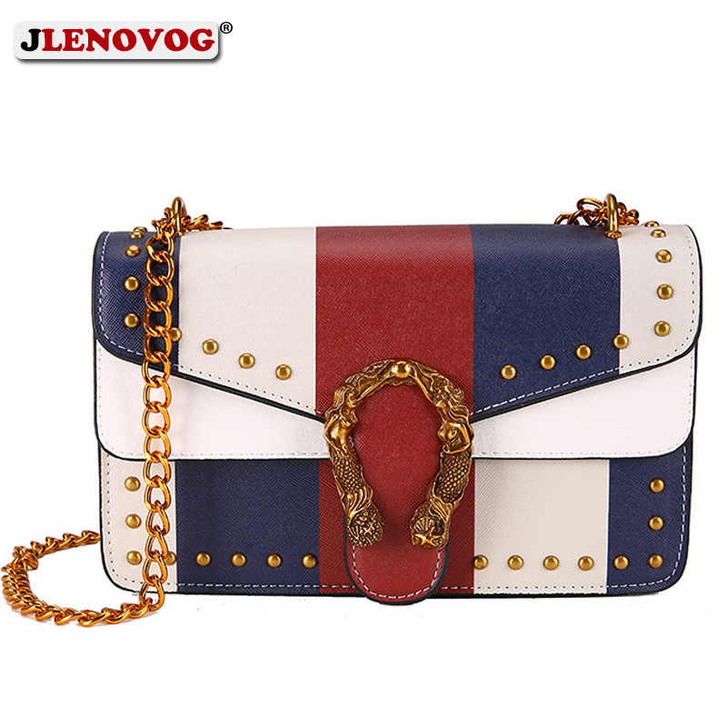 4e8a476c56cc Detail Feedback Questions about Women's Vintage Leather Rivet Dionysus  Shoulder Bag Small Panelled Chain Handbag Purse Female Luxury Stylish  Crossbody Flap ...