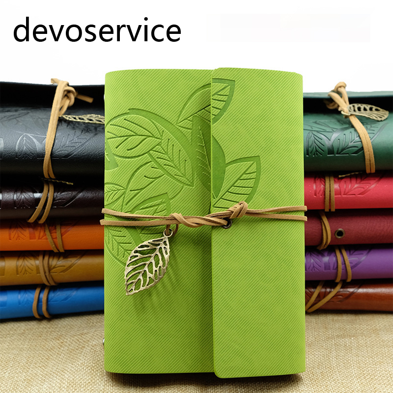 A5 A6 A7 Travel Journal Vintage Leather Leaf Notebook Diary Notepad Planer Sketchbook Notebooks Material Escolar Papelaria