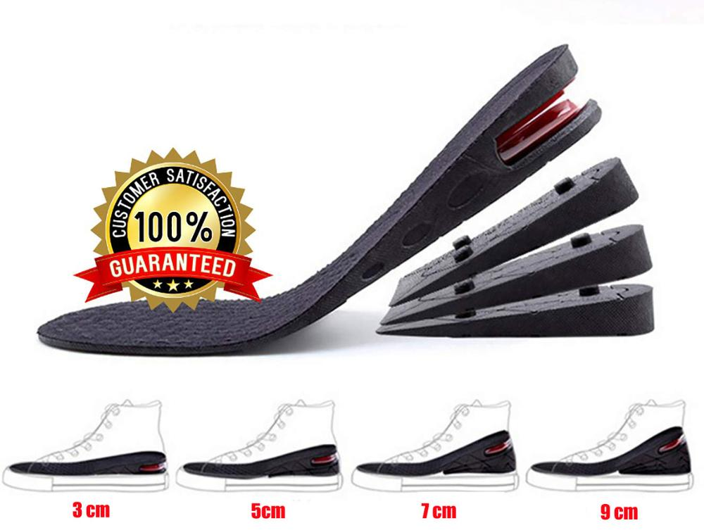 Height Increase Insole 3-layer Air Cushion Heel Insert Lift Shoes Insole for Men