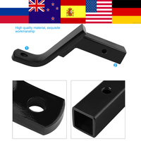 6in Drop Trailer Hitch Ball Mount Mounting Trailer Tow Hitch Ball Receiver for Towbar Tow Truck Caravan Trailer Couplings
