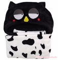 Unisex Baby Blanket Black Owl Bird Warm Nursery Bedding Swaddling Wrap Shawl