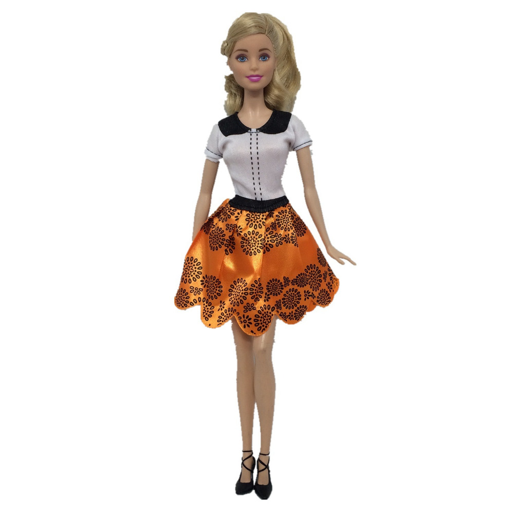NK 2018 Newest Doll Dress Beautiful Handmade Party ClothesTop Fashion Dress For Barbie Noble Doll Best Child GirlsGift 085G