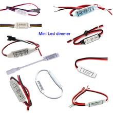 цена на Mini 3keys 4key DC5V 12V 24V single color/RGB/RGB+CCT led amplifier dimmer controller For 5050 3528 LED Strip light tape lamp
