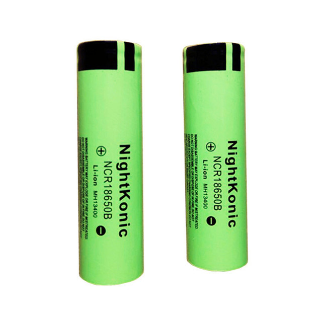 Nightkonic 4 PCS/LOT  18650 Battery rechargeable Battery 3.7V li-ion for flashlight or power bank 18650B