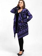 Plus Size Halloween Skull Drape Cardigan Big Size Winter Women Long Open Stitch Knitted Outwear Female Cardigans