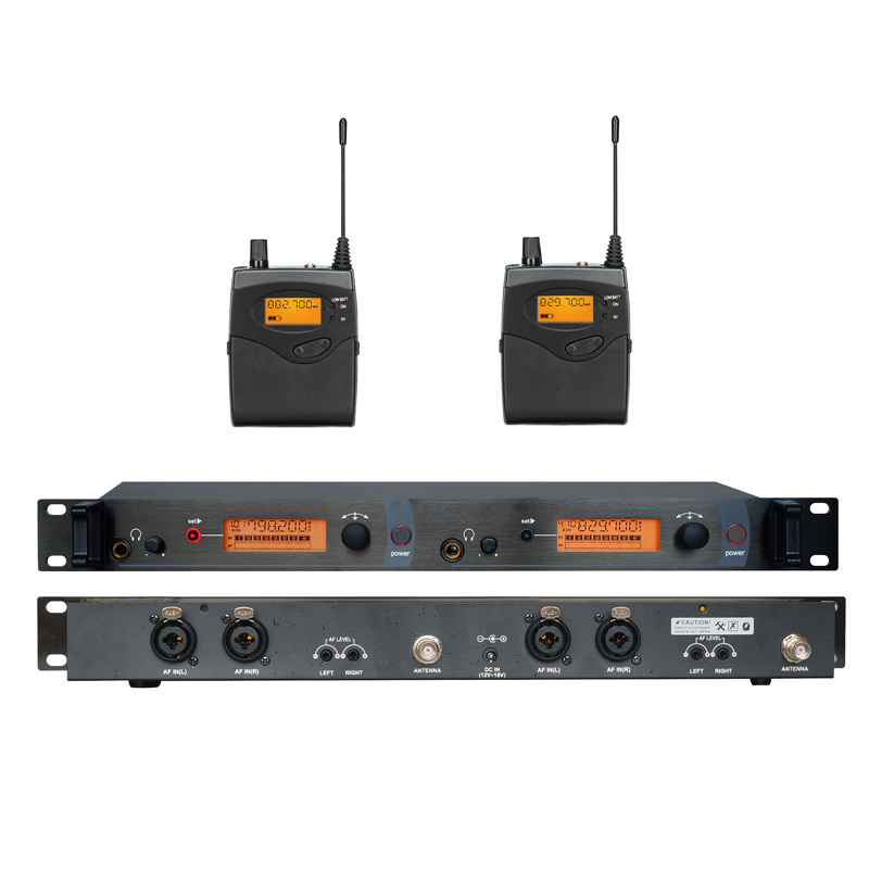 In Ear Monitor Wireless System Twin transmitter Monitoring Professional for Stage Performance SR2050 IEM