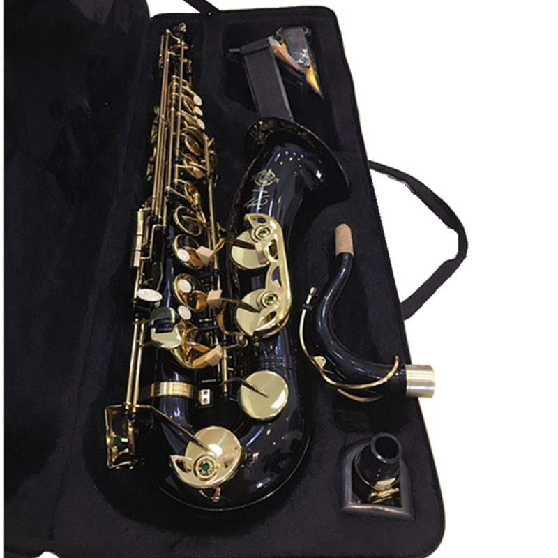 France Black Salmer 54 Tenor Sax B Flat Saxophone Top Musical Instrument Saxe Wear-resistant Black Nickel Gold Professional Sax alto saxophone 54 eb flat alto sax top musical instrument sax wear resistant black nickel plated gold process sax page 1